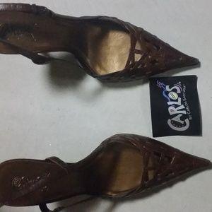 Carlos Santana high heels - Vixen Brown - New NWT